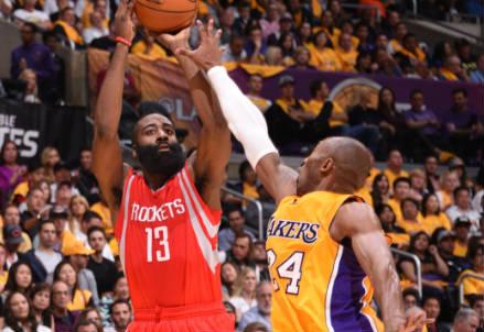 Kobe Bryant, guardia dei Lakers (Infophoto)