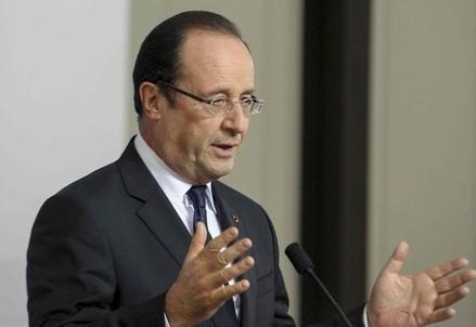Il presidente francese Francois Hollande (Foto InfoPhoto)
