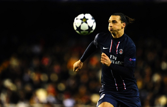 Zlatan Ibrahimovic, attaccante PSG (Foto Infophoto)