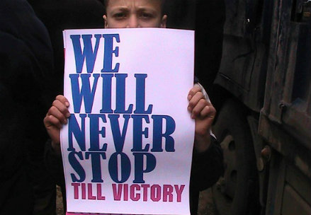 Piccoli manifestanti siriani (Infophoto)