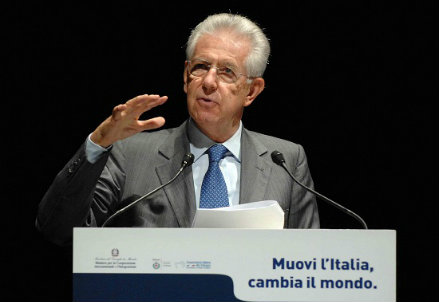 Il premier Mario Monti (InfoPhoto)