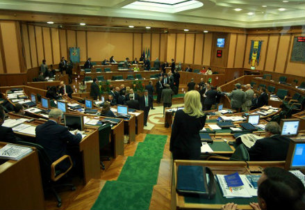 Il Consiglio regionale del Lazio (Infophoto)