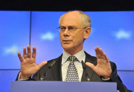 Il presidente permanente del Consiglio Europeo, Herman Van Rompuy (Infophoto)