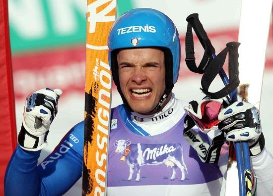 Christof Innerhofer l'anno scorso vinse la discesa di Wengen (Infophoto)