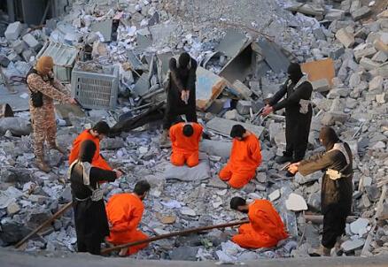 Foto dal video dell'Isis