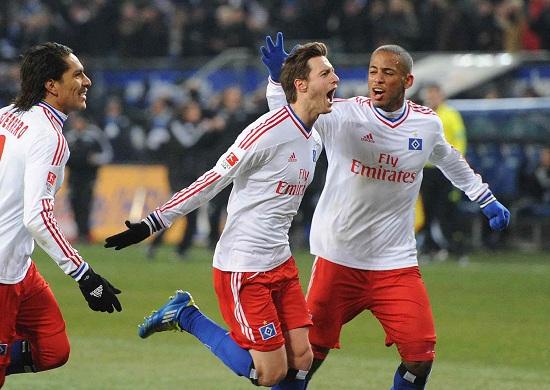Jacopo Sala (al centro), 20 anni, centrocampista dell'Amburgo (INFOPHOTO)