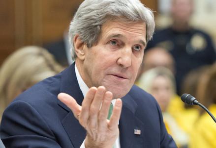 Il segretario di Stato americano John Kerry (Infophoto)