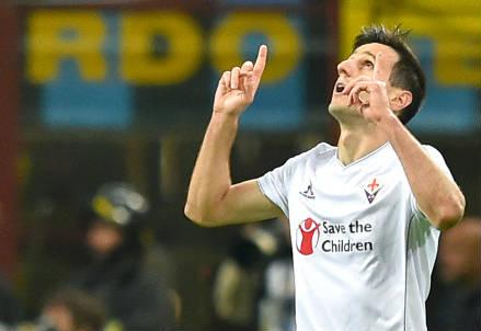 Nikola Kalinic, 27 anni, attaccante croato della Fiorentina (INFOPHOTO)