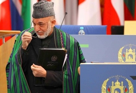 Hamid Karzai, presidente dell'Afghanistan (InfoPhoto)