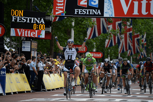 Marcel Kittel vince a Londra (da Facebook)