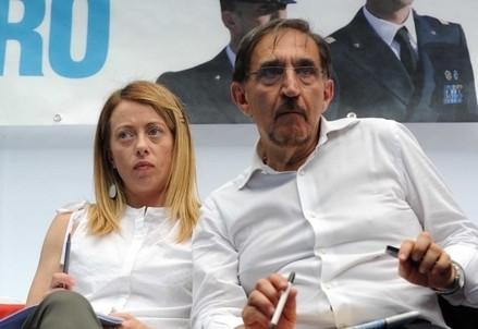Giorgia Meloni e Ignazio La Russa (Infophoto)