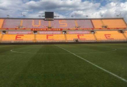 Lo stadio Via del Mare di Lecce (dall'account Twitter ufficiale @usfoggia1920)
