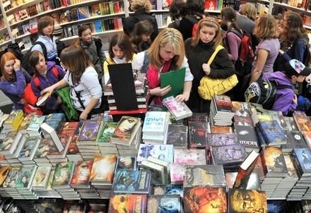 Alla fiera del libro di Lipsia  (Infophoto)