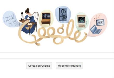 Il logo di Google dedicato a Ada Lovelace