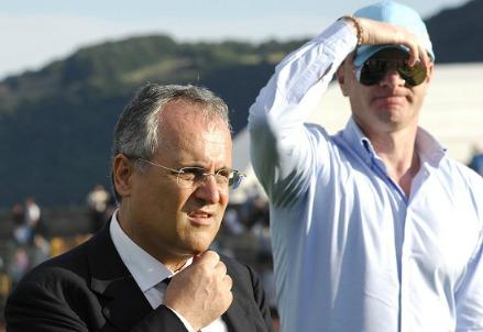 Claudio Lotito e Igli Tare, Lazio (Foto Infophoto)
