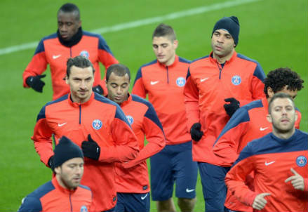 Il Paris Saint-Germain in allenamento (INFOPHOTO)