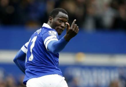 Il belga Romelu Lukaku, 22 anni, centravanti dell'Everton (INFOPHOTO)