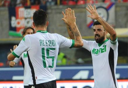 Francesco Acerbi (di spalle), 27 anni e Francesco Magnanelli, 30 (INFOPHOTO)