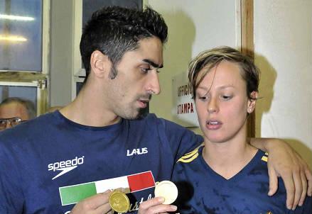 Filippo Magnini e Federica Pellegrini (Infophoto)