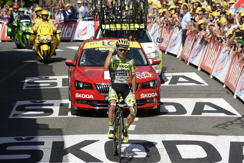 Rafal Majka sul traguardo di Cauterets (da Facebook Le Tour de France)