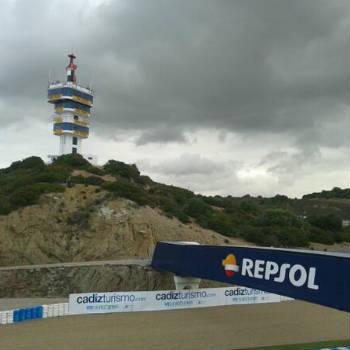 Nubi in avvicinamento al circuito di Jerez