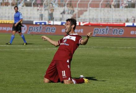 Matteo Mancosu, 30 anni, attaccante del Trapani (dall'account Twitter ufficiale @TrapaniCalcio)