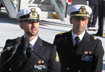 I due marò, Salvatore Girone (S) e Massimiliano Latorre (Infophoto)