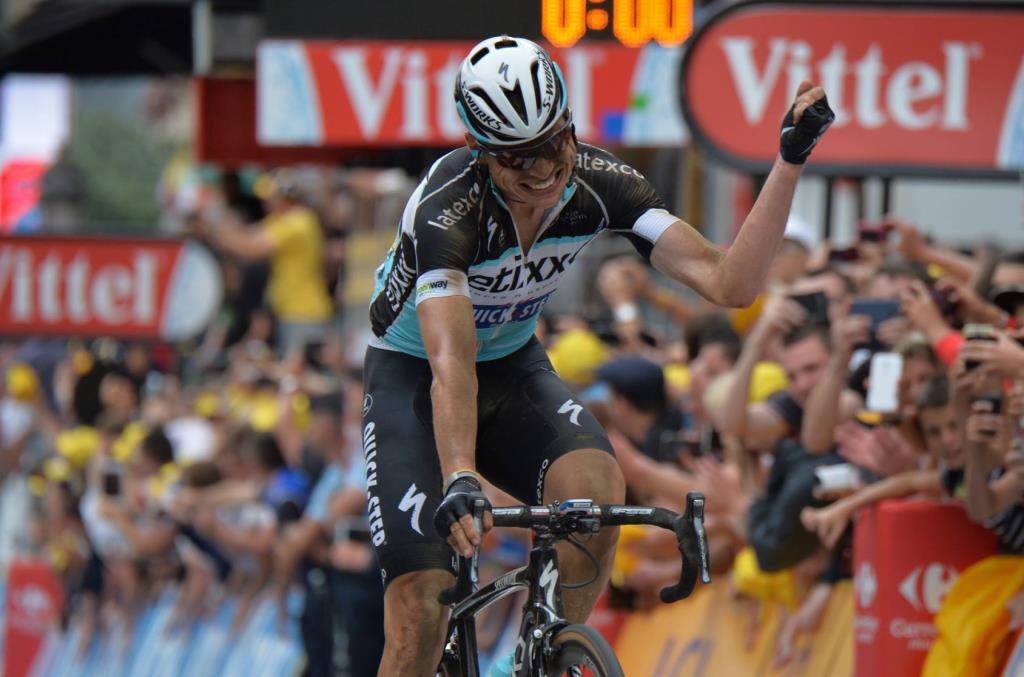 Tony Martin sul traguardo di Cambrai (da Facebook Le Tour de France)