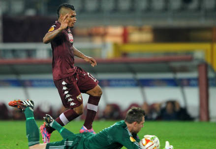 Primo gol in Serie A per il venezuelano del Torino Josef Martinez, 21 anni (INFOPHOTO)