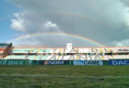 Lo stadio Angelo Massimino di Catania (dall'account Twitter ufficiale @Catania)
