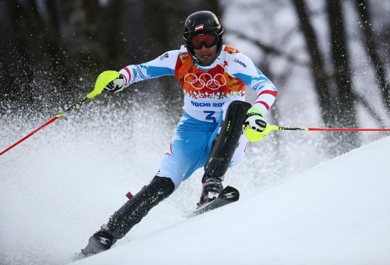 Mario Matt, nuovo campione olimpico di slalom (Infophoto)