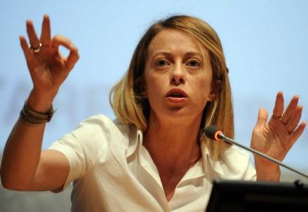 Giorgia Meloni, Fratelli d'Italia (Infophoto)