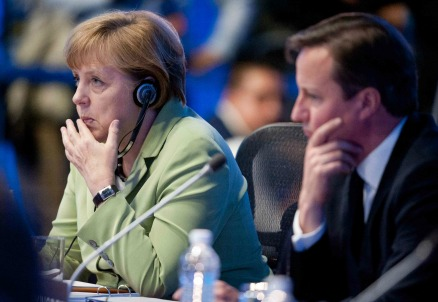 Angela Merkel e David Cameron (Infophoto)