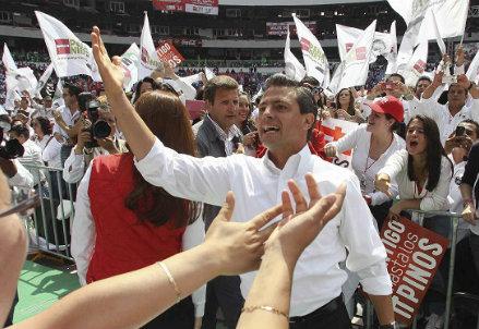 Il nuovo presidente messicano, foto Infophoto