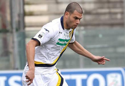 Adriano Mezavilla, 30 anni, centrocampista brasiliano della Juve Stabia (INFOPHOTO)