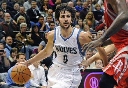Lo spagnolo Ricky Rubio, 25 anni, playmaker dei Minnesota Timberwolves (INFOPHOTO)