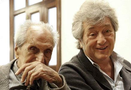 Ottavio Missoni con il figlio Vittorio - Infophoto