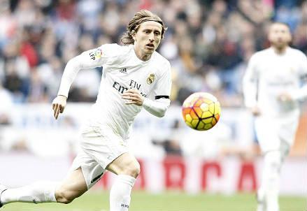 Il croato Luka Modric, 30 anni, centrocampista del Real Madrid (INFOPHOTO)