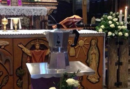 I funerali di Renato Bialetti, foto dal web