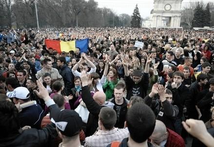 Proteste in Moldavia (Infophoto)