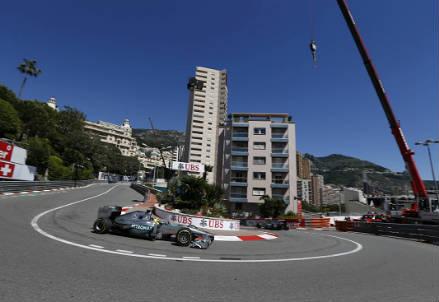 Un'immagine del circuito di Montecarlo (Infophoto)