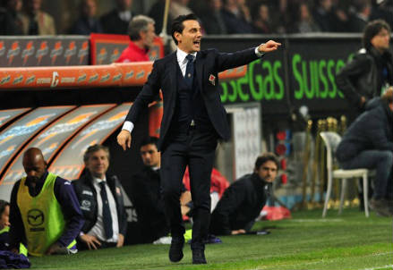 Vincenzo Montella, 39 anni, allenatore della Fiorentina (Foto Infophoto)