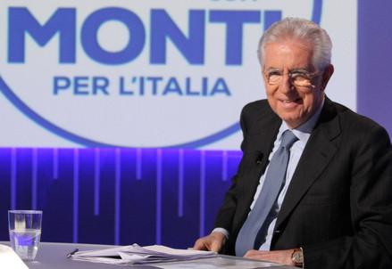 Mario Monti ospite di Otto e mezzo (InfoPhoto)