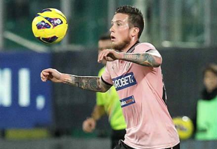 Michel Morganella, 24 anni, terzino svizzero del Palermo (INFOPHOTO)