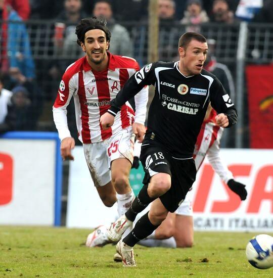 Piermario Morosini con la maglia del Vicenza (Infophoto)