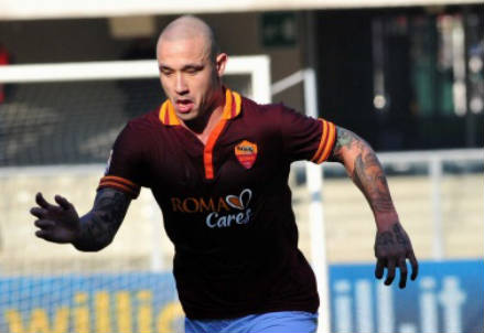 Radja Nainggolan, centrocampista Roma (Foto Infophoto)