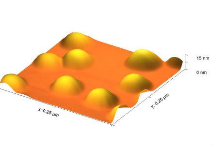 I semiconduttori realizzati dall'Università di Milano-Bicocca, ripresi con microscopio a forza atomica