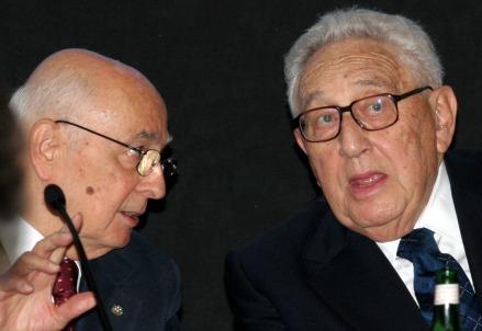 Giorgio Napolitano e Henry Kissinger
