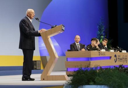 Giorgio Napolitano al Meeting di Rimini (Foto: Infophoto)