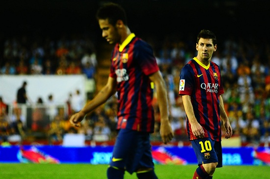 Neymar con Messi (infophoto)